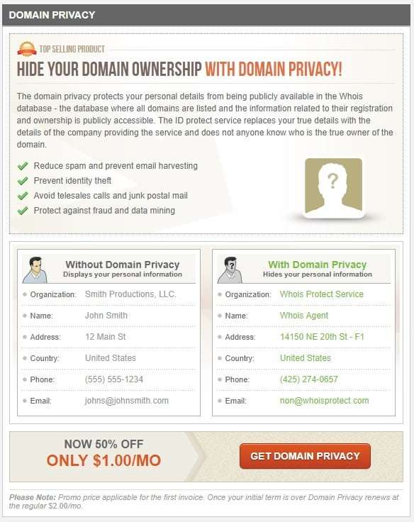 SiteGround Whois Privacy