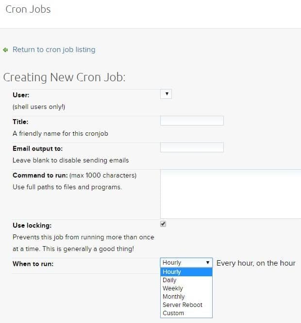 DreamHost Cron Jobs