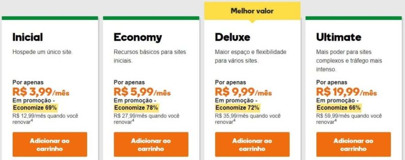 Planos de Hospedagem na Black Friday GoDaddy 2017